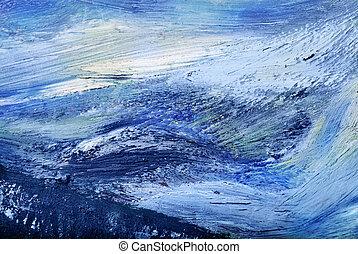 resumen, pintura al óleo