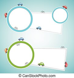 resumen, plano de fondo, con, color, cars., vector