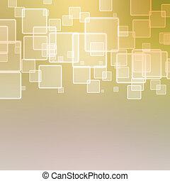 resumen, plano de fondo, con, cuadrados