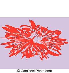 resumen, plano de fondo, con, flor