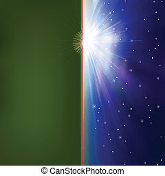 resumen, plano de fondo, con, salida del sol, y, estrellas