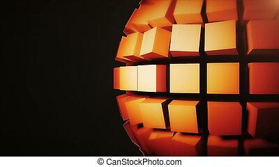 resumen, plano de fondo, con, tecnología, esfera