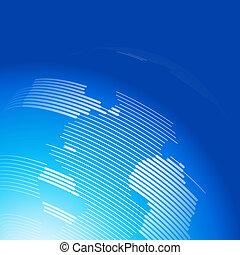 resumen, plano de fondo, con, un, mapa, de, el mundo