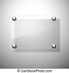 resumen, plano de fondo, con, vidrio, framework., vector,...