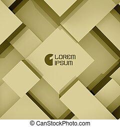 resumen, plano de fondo, de, 3d, blocks., vector, illustration.