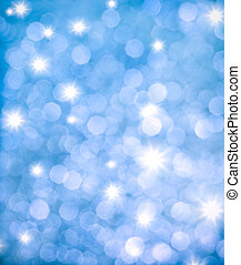 resumen, plano de fondo, de, azul, brillo, luces