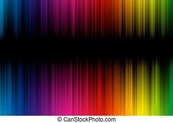 resumen, plano de fondo, de, espectro, líneas, con, espacio...