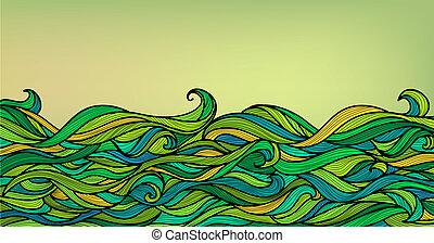 resumen, plano de fondo, ondas