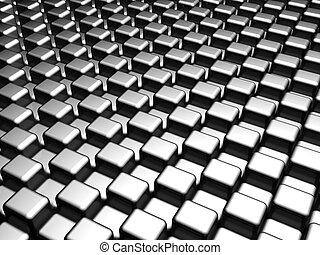 resumen, plata, cubo, patrón, plano de fondo