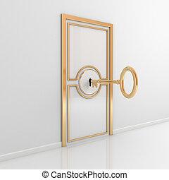 resumen, puerta