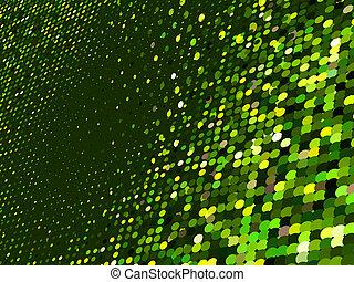 resumen, punto, verde, mosaico, fondo., eps, 8