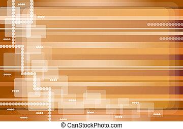 resumen, rayas, oro, y, marrón