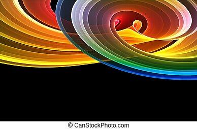 resumen, rendido, colorido, plano de fondo, 3d