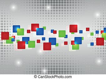 resumen, rojo, verde azul, rectángulos
