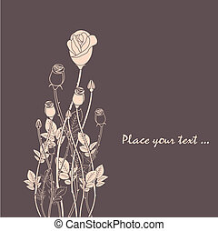 resumen, rosa, flor, plano de fondo