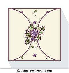 resumen, roses., tarjeta de felicitación