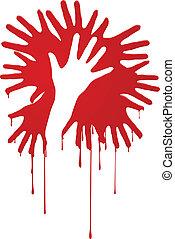 resumen, sangriento, manos