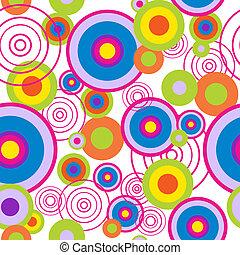resumen, seamless, patrón, con, círculos concéntricos