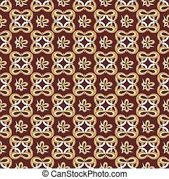resumen, seamless, patrón, en, estilo retro, en, el, fondo marrón