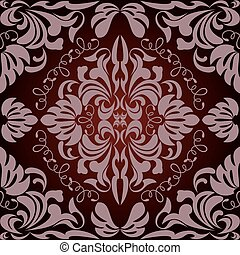 resumen, seamless, patrón floral