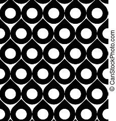 resumen, seamless, patrón, plano de fondo, negro, blanco, ...