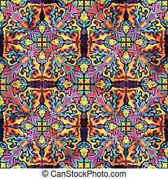 resumen, seamless, pattern., vector, ilustración, para, su, diseño