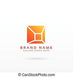 resumen, simple, geométrico, logotipo, diseño