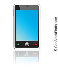 resumen, smartphone, touchscreen