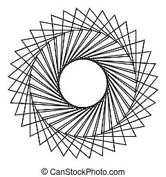 resumen, spirograph, círculo concéntrico, patrón