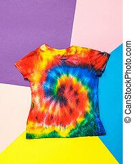 resumen, tai, pintado, fondo., plano, lay., estilo, dai, camiseta