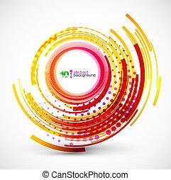 resumen, tecnología, círculo, plano de fondo