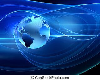 resumen, tecnología, futurista, plano de fondo