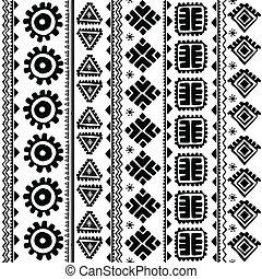 resumen, tribal, patrón