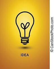 resumen, vector, bulb., illustration., plano de fondo