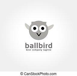 resumen, vector, caricatura, búho, logotipo, icono,...
