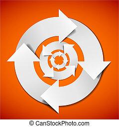 resumen, vector, ciclo vital, diagrama