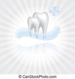 resumen, vector, dental, ilustración