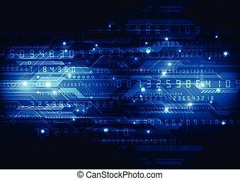 resumen, vector, diseño, plano de fondo, tecnología digital
