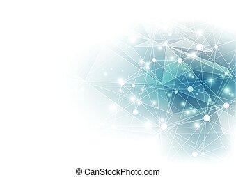 resumen, vector, fondo digital, technology.