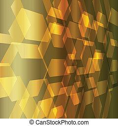 resumen, vector, metal, oro, plano de fondo