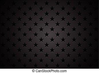 resumen, vector, negro, estrellas, plano de fondo
