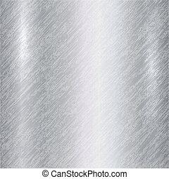 resumen, vector, plata, plano de fondo, metálico