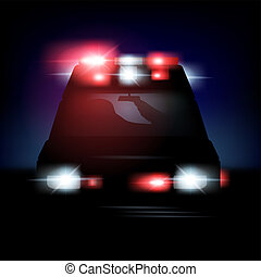 resumen, vector, sirenes, ilustración, ambulancia