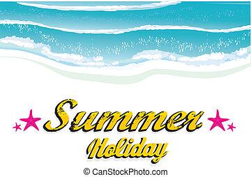 resumen, verano, plano de fondo, .
