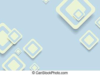 resumen, verde azul, cuadrados, vector, diseño