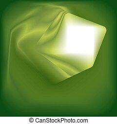 resumen, verde, cuadrado, plano de fondo