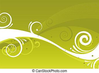 resumen, verde, diseño