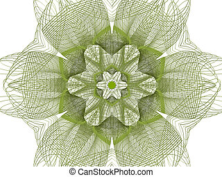resumen, verde, flor