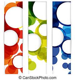 resumen, vertical, bandera, con, formas, de, vacío, marcos,...