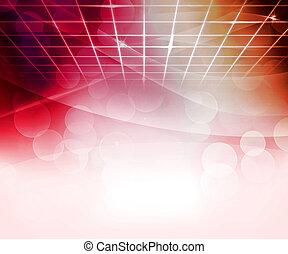 resumen, virtual, plano de fondo, rojo
